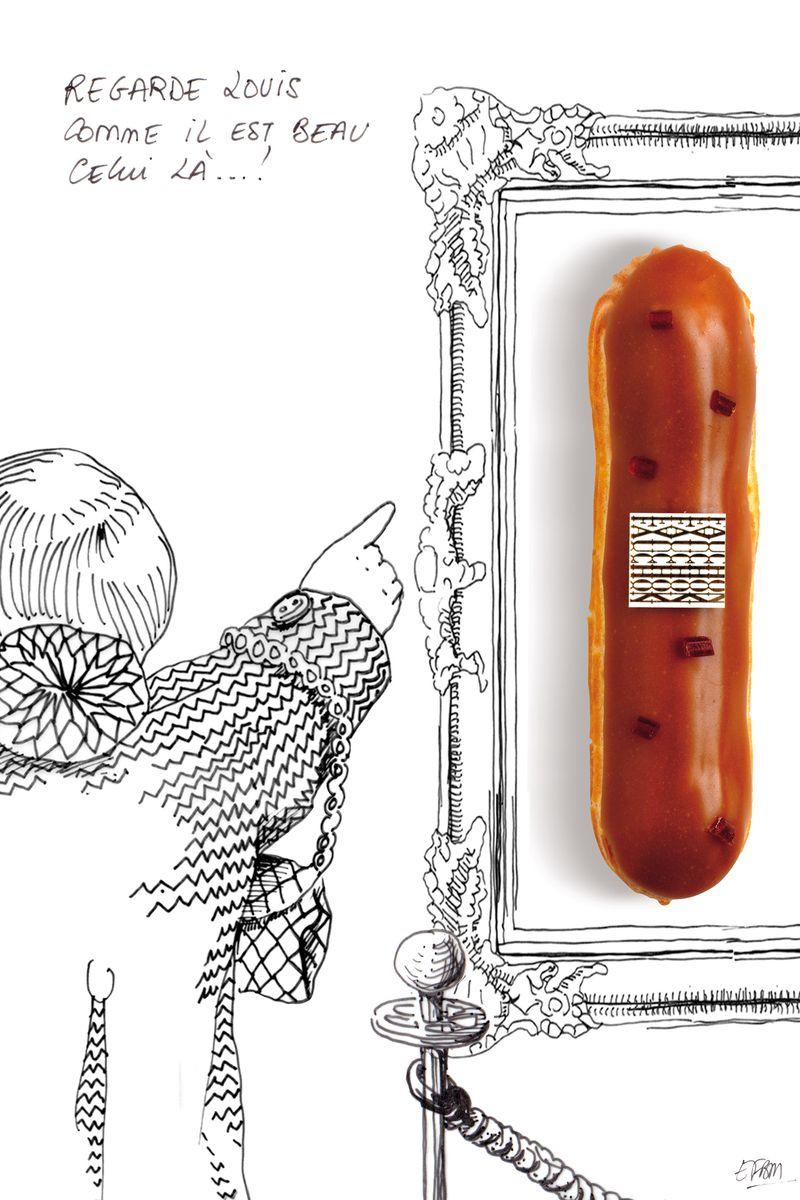 L'éclair Lisse - Caramel au beurre salé par Christophe Adam
